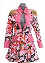 Carnavalsjas roze panter bloem